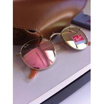 Óculos Redondo 3447 Round Rosa Espelhado Feminino John Lenon