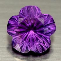 Hermosa Amatista Natutal En Tallada En Forma De Flor 11,35