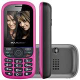 Celular Tri Chip Up Mp3/4 P3275 Preto/rosa Com Frete Grátis