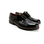 Zapato Hombre Abotinado Cuero Diseño Leonzio By Ghilardi