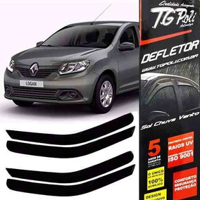 Calha Defletor De Chuva Renault Logan 2013/2016 4p Tg Poli