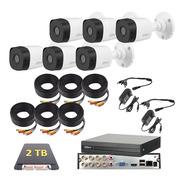 Kit De Video Vigilancia 6 Cámaras 1080p 2mp Dahua 2 Tb