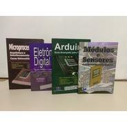4 Livros Microp, Arduino, Sens, Eletrônica Digital. 15%desc