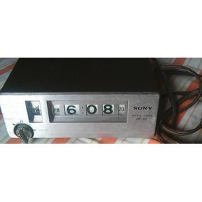 Antique Reloj Sony Dt-30 110v Con 2 Tomas De Corriente