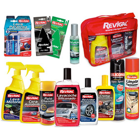 Kit Lavado Okm 12 Productos Revigal + Bolso