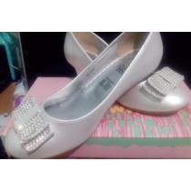 Zapatillas Blancas Fiesta Niña N. 21 Nvas Vestido Zapatos Na
