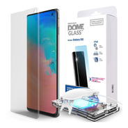 Vidrio Templado Samsung S10 S10 Plus S10e/lite Whitestone Dome Glass Original + Lampara Uv Premium