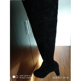 Botas Nuevas Sin Uso Talle 36 37 Negras Altas Hasta La Rodil