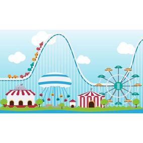 Painel Festa 300x170 Parque De Diversões Azul