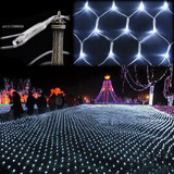 Pisca Rede Led 320 Lampadas Branco Frio Luz Fixa Pisca 110v