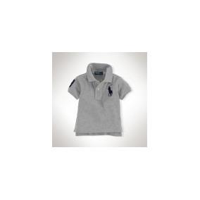 Polo Ralph Lauren Bebe Camisa/camiseta Polo Big Pony Cinza!!
