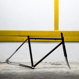 Cuadro Bicicleta Fixie Pista Nuevos De Fabrica Fad, Cromado