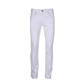 Pantalon Wrangler Spencer Button Gabardina Sarga Hombre