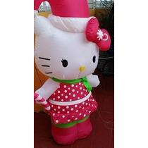 Hello Kitty Inflable Navidad Decora Tu Navidad 1.5 Metros