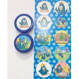 20 Latinhas Em Pvc 5x1 - Tema Galinha Pintadinha Azul