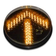 Lampara Led Para Semaforo Vial De 300mm Flecha Color Ámbar