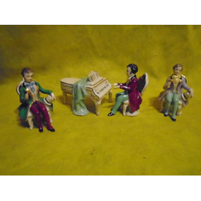 Antiguas Figuras De Porcelana, Germany, Cuatro