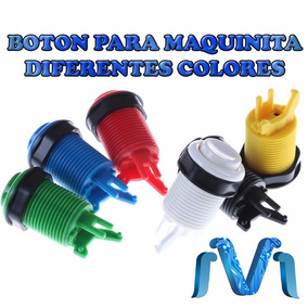 Boton Para Maquinita Arcade Diferentes Colores 28mm 10 Pzs