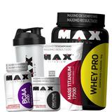 Kit Ganho De Massa Muscular Max Titanium