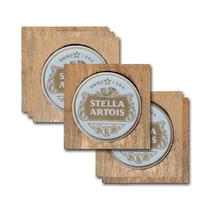 Conjunto 6 Porta-copos Stella Artois Retrô