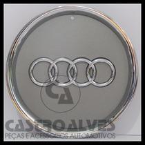 Calota Tampa Centro P/ Roda Original Audi A3 Aro 15 Cromada