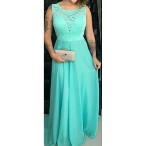 Vestido madrinha de casamento verde agua