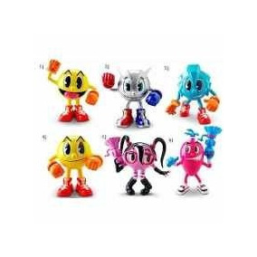 Pac Man Kit 6 Bonecos The Man Figuras Bandai