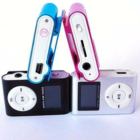 Mini Mp3 Player Shuflle Clip Cartao Memoria Suporta Até 8gb