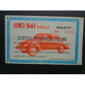 Antiguos Boletos Del Sorteo Del Sol De Mexico 1968