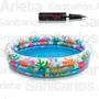Pileta Inflable Intex Fishbowl Para Bebes + Inflador Cs5536