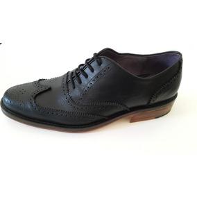 Zapatos En Punta Con Suela De Madera 100% Cuero Premium