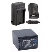 Kit Bateria Np-fv100 + Carregador P/ Sony Dcr-sr88 Dcr-sx63