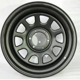 Roda Daytona Black Em Aço Estilo Mangels 17x9, 5 Furos 114,3