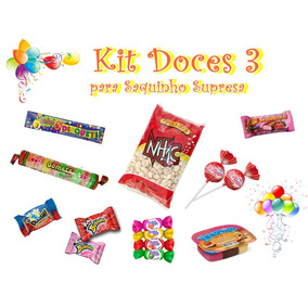 Kit Doces Para Saquinho Surpresa Aniversário 3 -c/30
