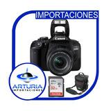 Canon 800d Con Lente 18-55mm Stm + Memoria 32gb + Bolsos
