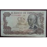 España Billete De 100 Pesetas Año 1970