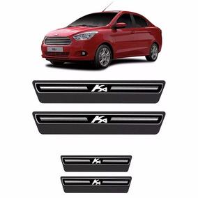 Kit Adesivo Soleira Premium Elegance Ford Ka 2015 8pçs/4p