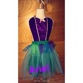 Disfraz La Sirenita Princesa Ariel Vestido Tutu Para Niña