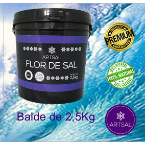 Flor De Sal Produzida No Brasil (3 Baldes 2,5kg)