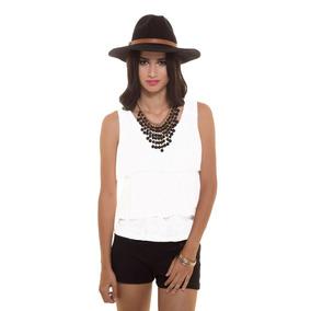 Blusa Blanca 3 Bolados Saints Clothes