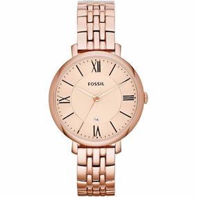 Reloj Fossil Es3435 Jacqueline Oro Rosa Original Para Dama*