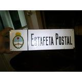 Cartel Banderola Enlozado Correo Estafeta Postal Antiguo