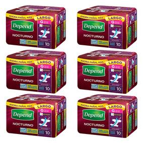 Caja De Depend Nocturno Grande 6 Paquetes