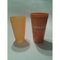 6 Vasos, Color Coral, Plastico, Para Microhondas