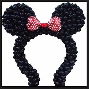 Suporte De Bexigas Arco Minie E Mickey