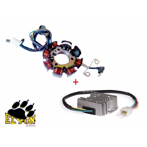 Kit Com Estator + Regulador Retificador Cbx / Xr 200 Novo