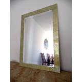 Espelho Cristal Mosaico Vidro Pintado À Mão 41 X 57 Cm