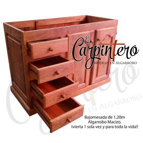 Bajo mesada de algarrobo madera en mercado libre argentina for Muebles de algarrobo mercadolibre
