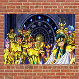 Poster Saint Seya Cavaleiros Do Zodíaco Shiryu Ikki Ouro