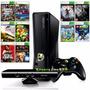 Xbox 360 Slim + 10 Jogos + Kinect + 1 Controle + Original